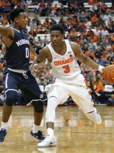 Andrew White has been a key performer with his 3-point shooting all season long for Syracuse.