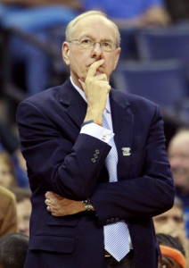 Syracuse coach Jim Boeheim seeks his first victory in ACC Tournament play.