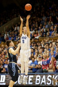 Sophomore Luke Kennard has shooting ability with long range.