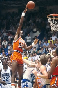 Raph Sampson pplayed 132 college games and was a three-time AP Player of the Year before being the first pick in the 1983 NBA Draft.