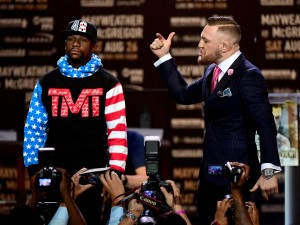 The initial press conference between Floyd Mayweather and Conor McGregor illustrates that the draw for their August 26th fight will be as much about hype and fighting skills.