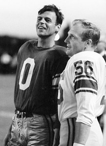 Joe Schmidt (#56) was a player on the 1963 Lions and then was coach when the movie was made in 1967.