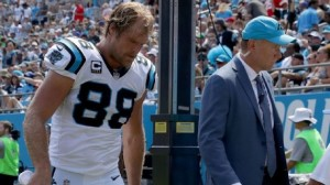 Carolina Panthers tight end Greg Olsen suffered  broken foot in their week two win over the Bills.