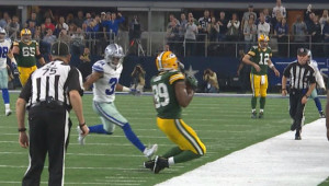 Aaron Rodgers and Jared Cook connected on this clutch play in last's year's dramatic playoff win over Dallas.