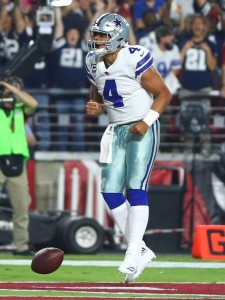 Dak Prescott was the NFL Offensive Rookie of the Year in 2016.