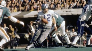 Roger Staubach led the Dallas Cowboys to two Super Bowl wins and 23 fourth quarter comebacks during the 1970s.