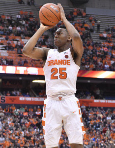 Tyus Battle has a strong all-around game and leads Syracuse with 19.7 ppg.