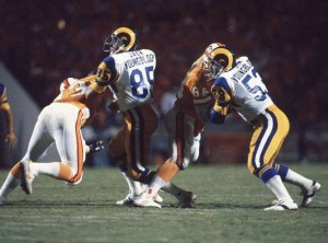 Jack Youngblood played the 1979 NFC Playoffs with a broken leg.
