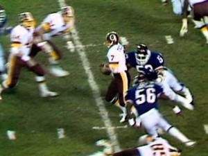 One of the most famous leg injuries of all-time occurred on a Monday Night Football game in 1985.