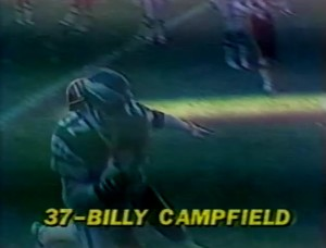 Billy Campfield caught two second quarter touchdown passes for the Philadelphia Eagles.