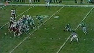 Holder John Sciarra was unable to secure the snap on what would have been a game-winning field goal for the Eagles.